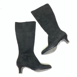 Sofft Black Suede Leather Tall Boots Size 6M